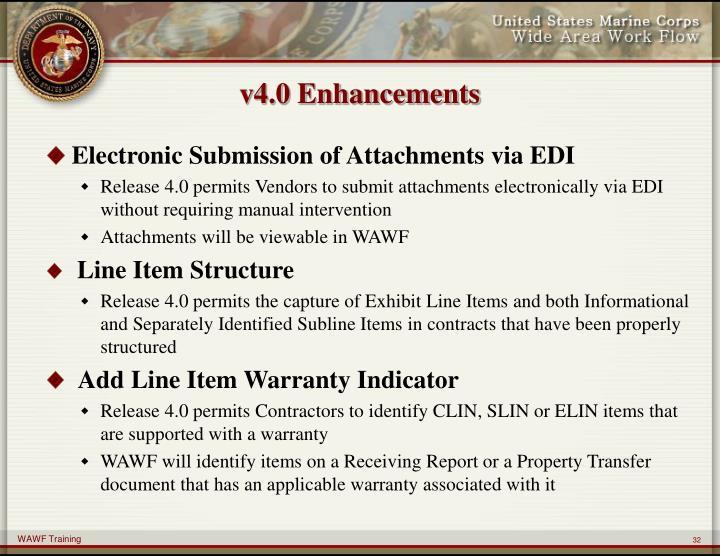 v4.0 Enhancements