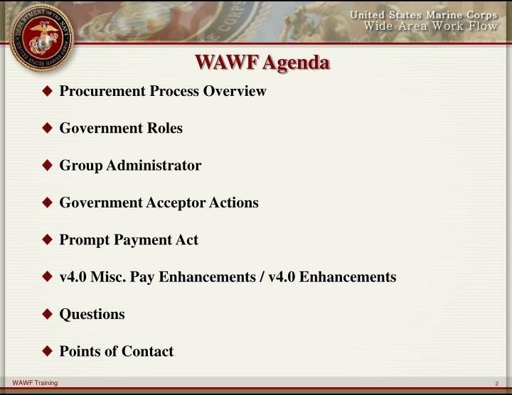 WAWF Agenda