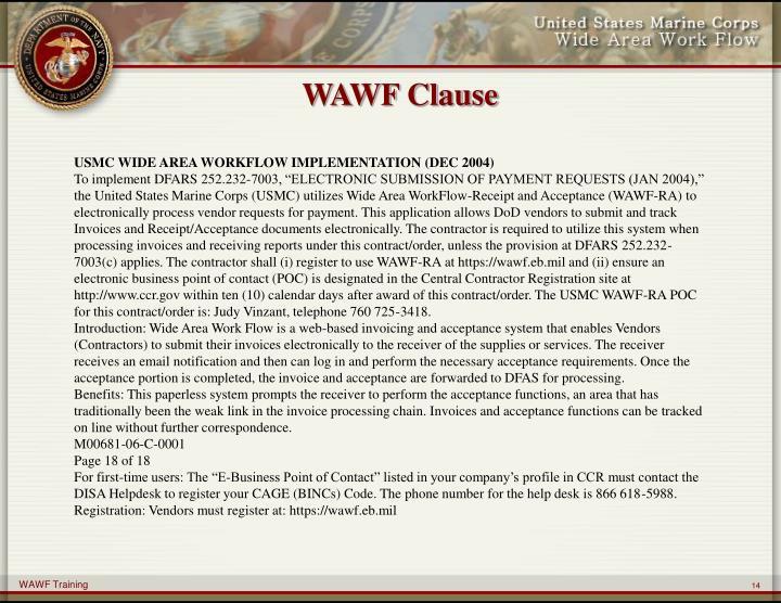 WAWF Clause