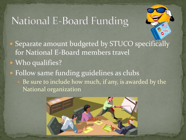 National E-Board Funding