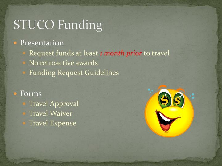 STUCO Funding