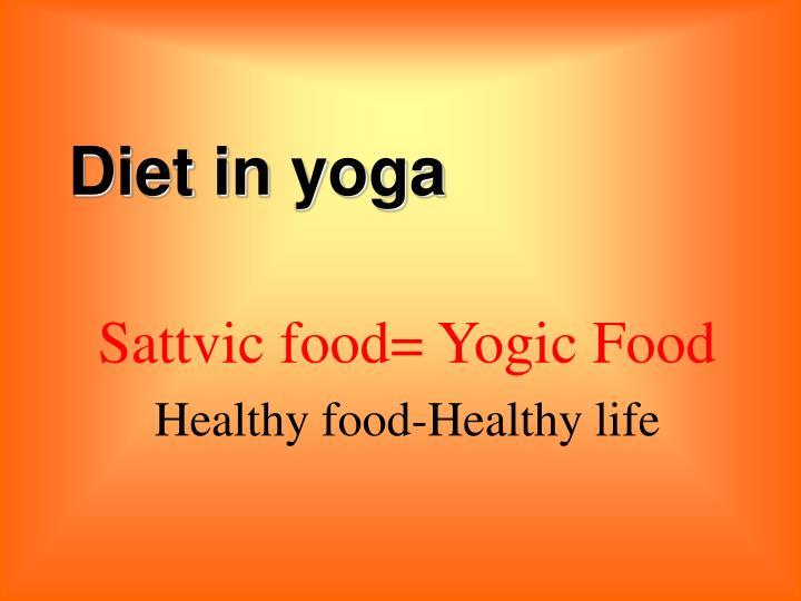 Diet in yoga