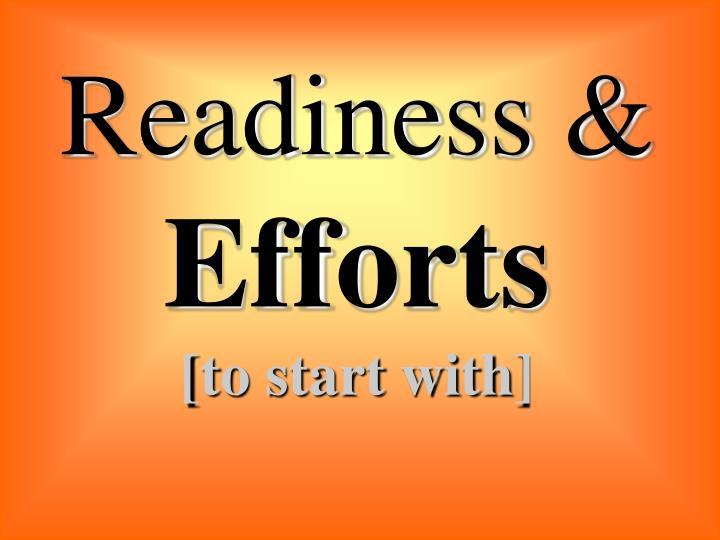 Readiness &