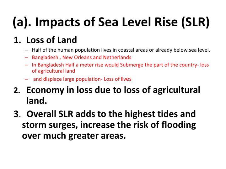 (a).Impacts of Sea Level Rise (SLR)