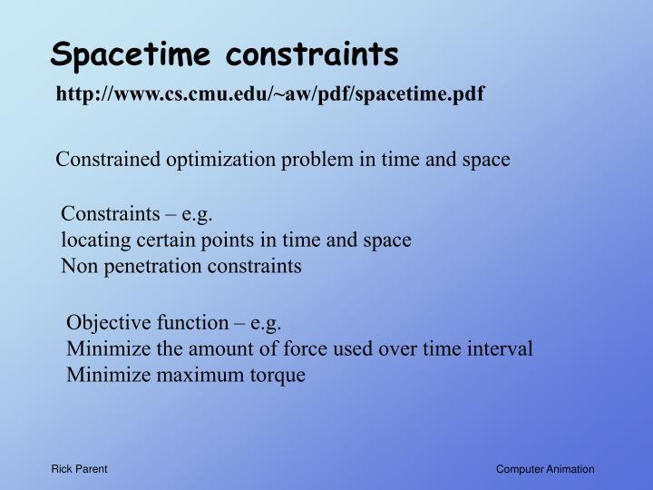 Spacetime constraints