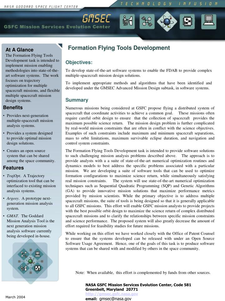 Formation Flying Tools Development