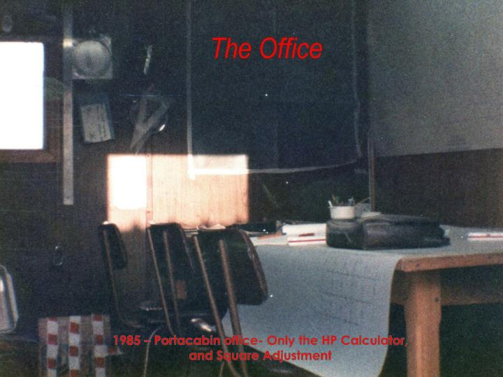 1985 portacabin office only the hp calculator and square adjustment