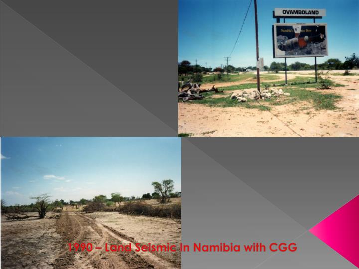 1990 – Land Seismic In Namibia with CGG
