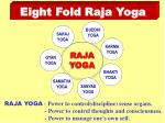 eight fold raja yoga