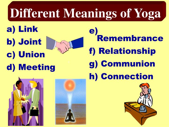 Different Meanings of Yoga