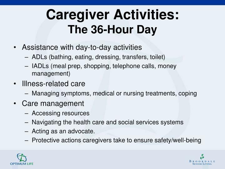 Caregiver Activities:
