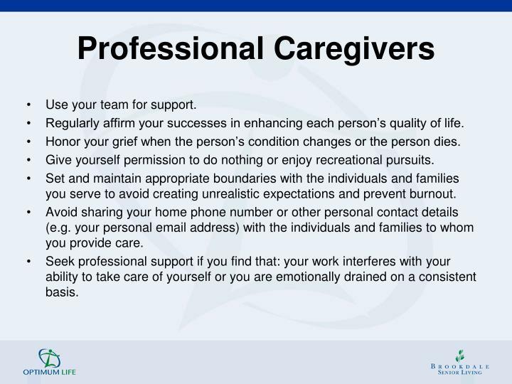Professional Caregivers