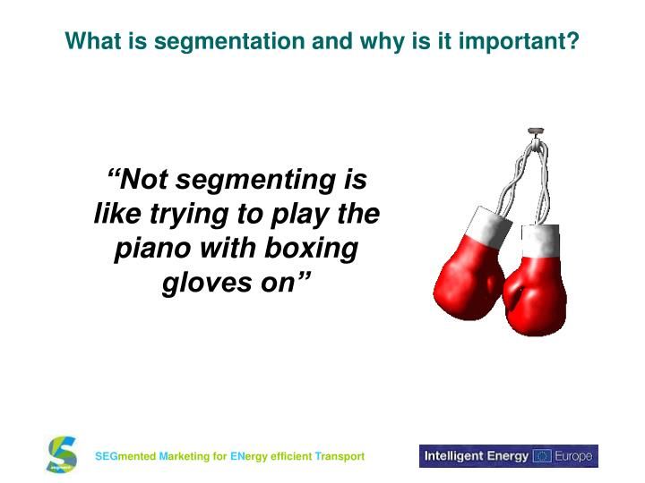 What is segmentation and why is it important?