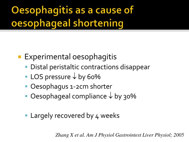 Oesophagitis as a cause of oesophageal shortening