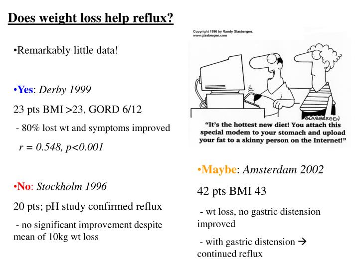 Does weight loss help reflux?