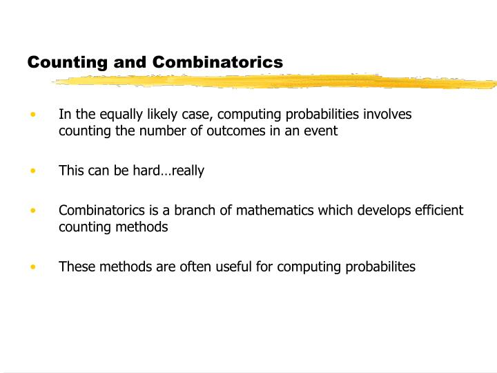 Counting and Combinatorics