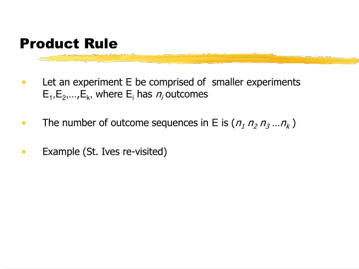 Product Rule