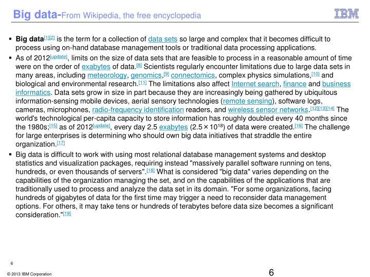 Big data-