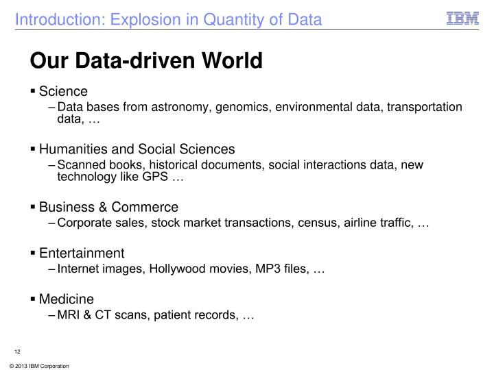 Our Data-driven World