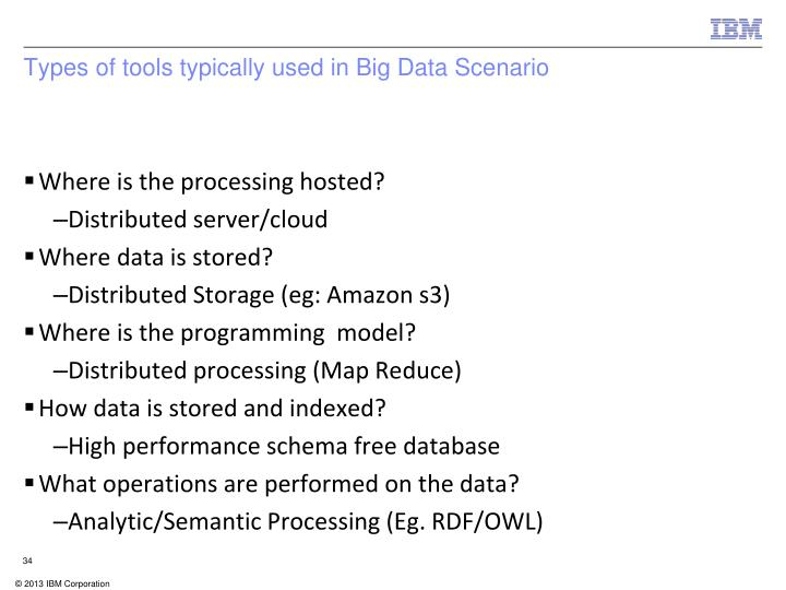 Types of tools typically used in Big Data Scenario