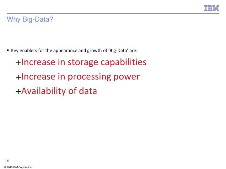 Why Big-Data?