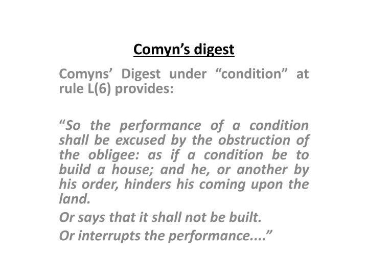 Comyn's