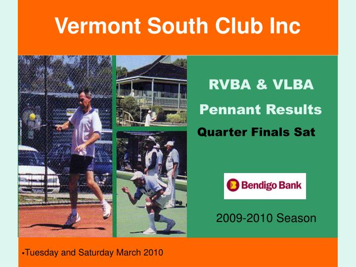Vermont South Club Inc