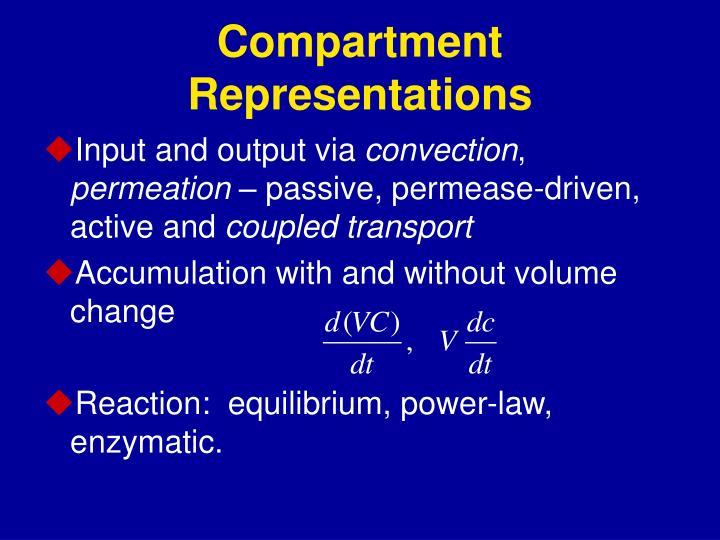 Compartment Representations