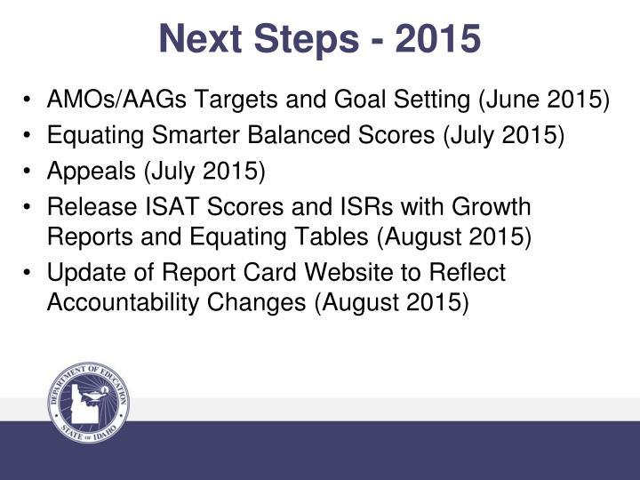 Next Steps - 2015
