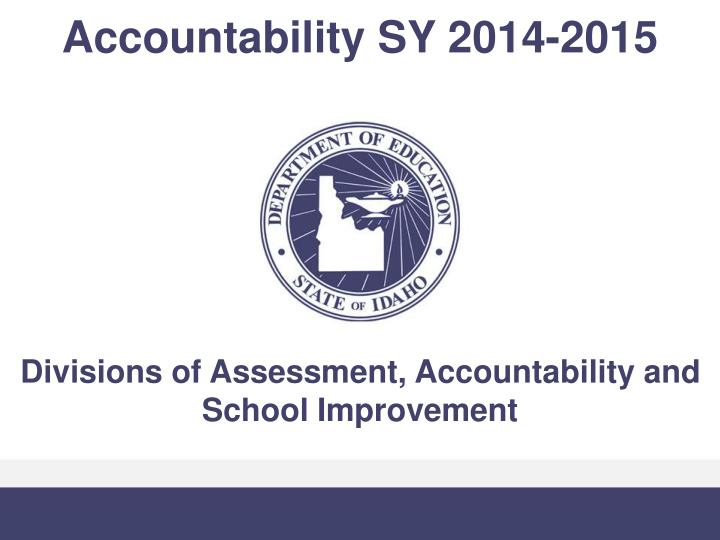 Accountability SY 2014-2015