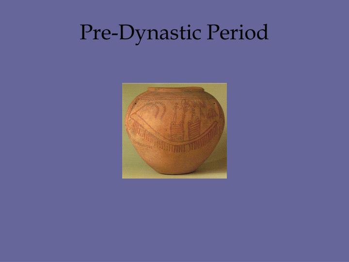 Pre-Dynastic Period