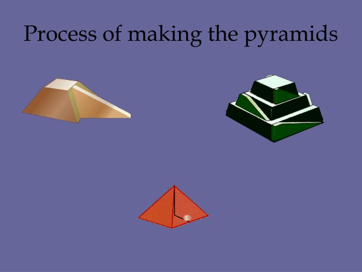 Process of making the pyramids