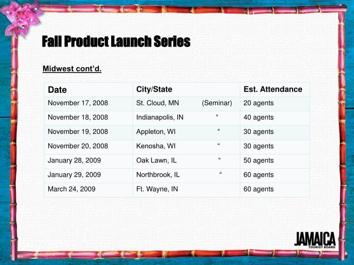 Fall Product Launch Series