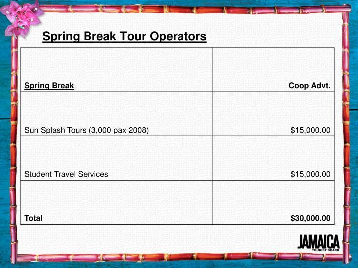 Spring Break Tour Operators