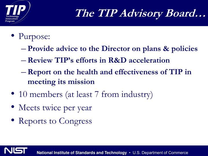 The TIP Advisory Board…