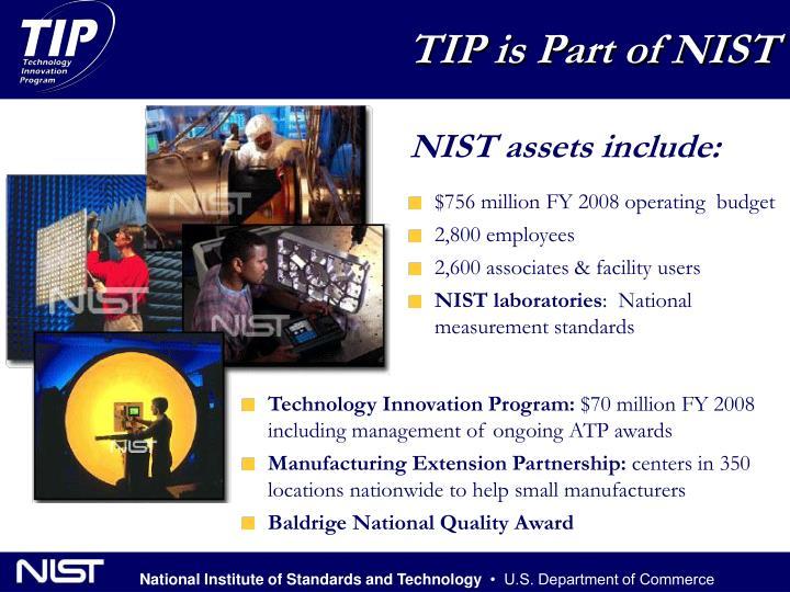 TIP is Part of NIST