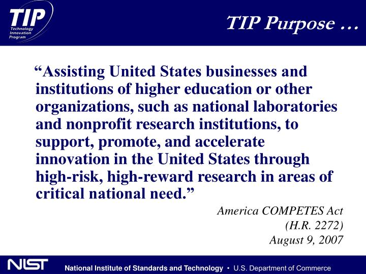 TIP Purpose …