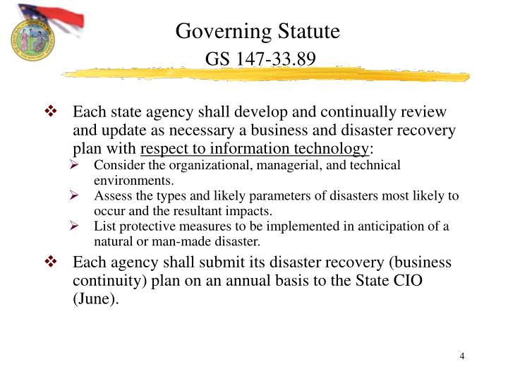 Governing Statute