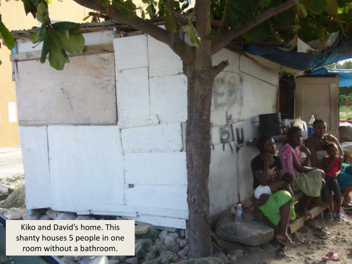 Kiko and David's home. This shanty houses 5 people in one room without a bathroom.
