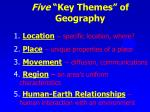 five key themes of geography