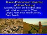 human environment interaction cultural ecology
