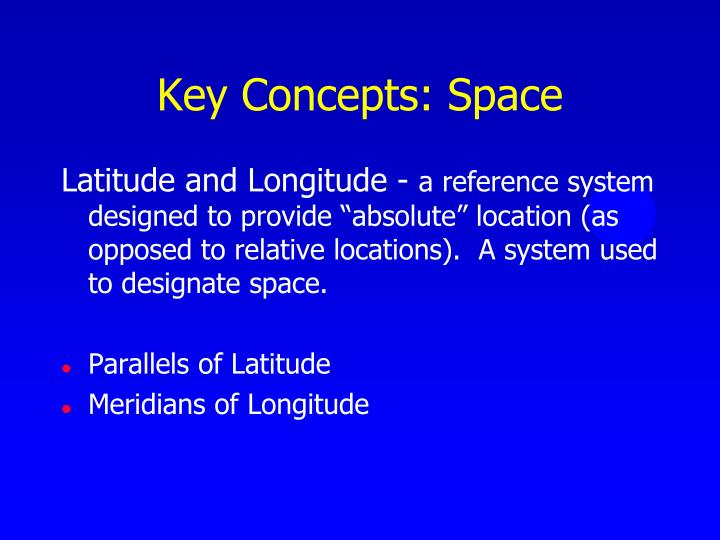 Key Concepts: Space