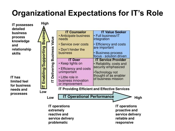Organizational Expectations for IT's Role