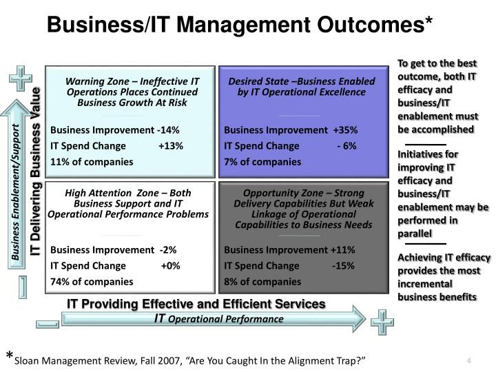 Business/IT Management Outcomes*
