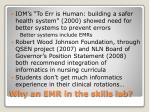 why an emr in the skills lab
