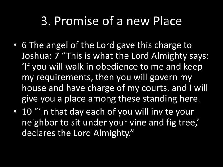 3. Promise of a new Place