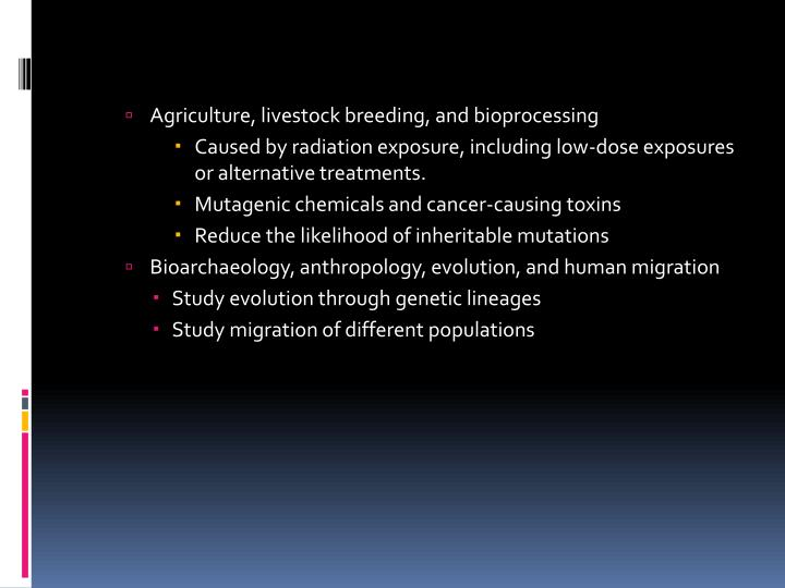 Agriculture, livestock breeding, and