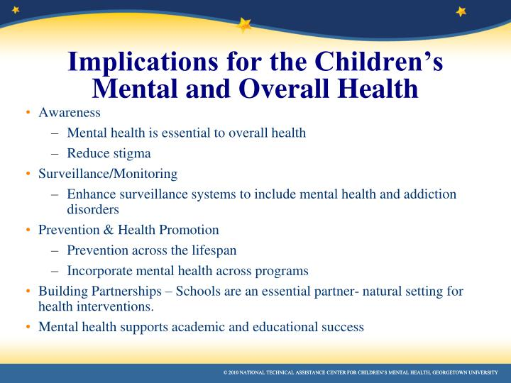 Implications for the Children's Mental and Overall Health
