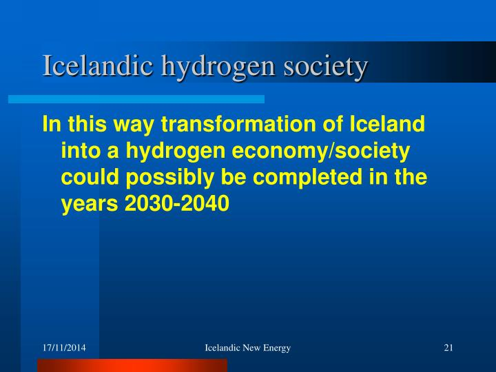 Icelandic hydrogen society