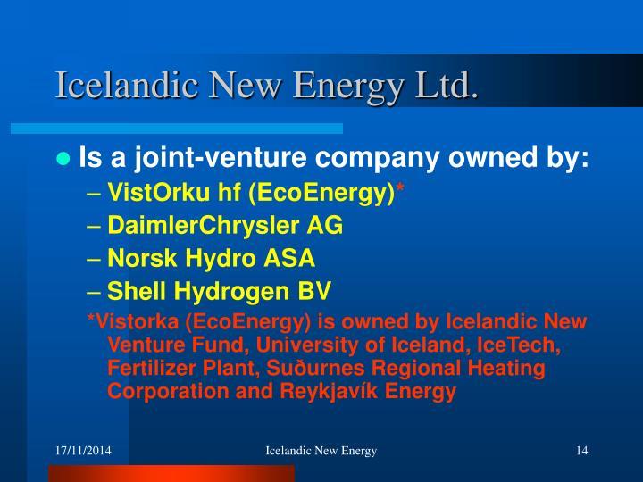 Icelandic New Energy Ltd.